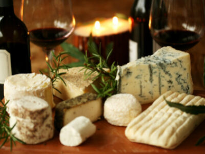 Smelly Cheese & Potent Wine (Yum!)