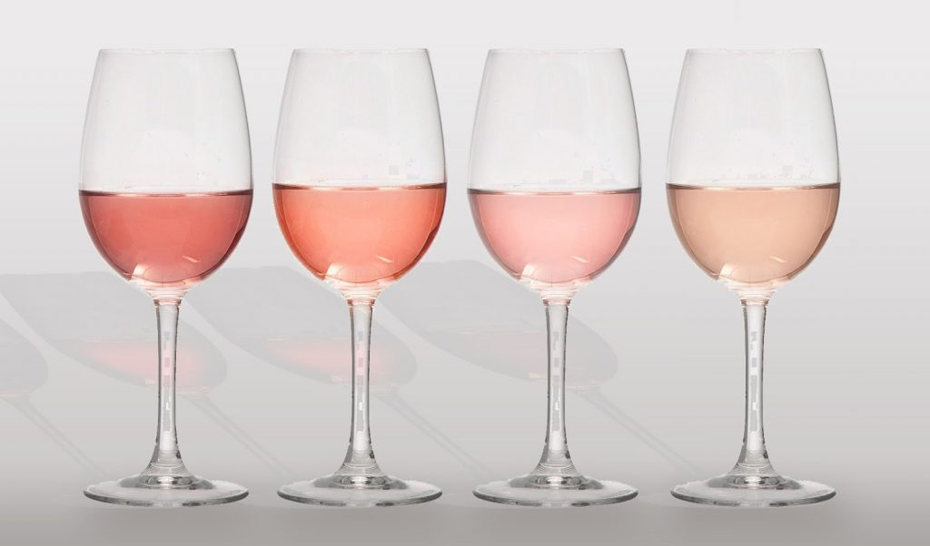 rose wine glasses