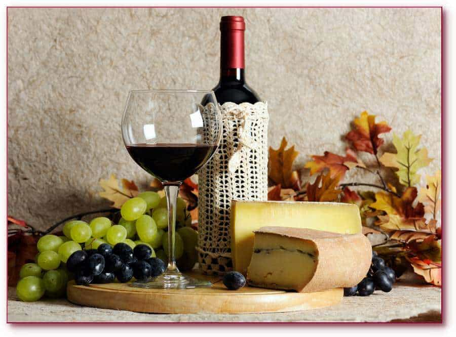 Beaujolais New Year celebration with cheese.
