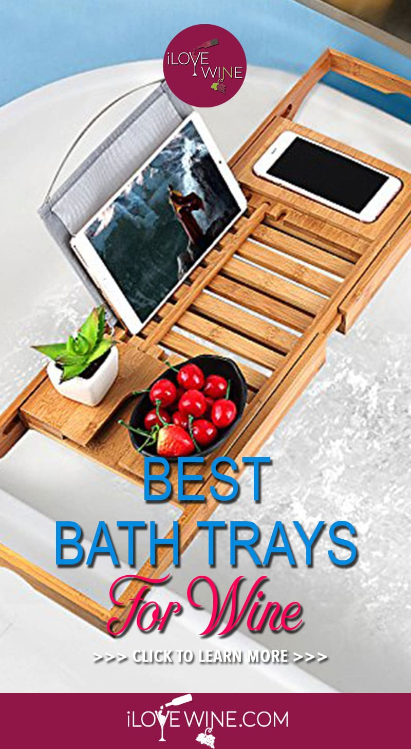 When choosing your tub tray, there are some things to consider. From wine glass holders to soap trays, reading racks and cell phone slots, there are a lot of advantages of having a good tub tray that can house all of the accessories you would want during a nice soak. Click to learn more! Love wine | Bathtub Tray For Wine | Bath Tray #lovewine #wine #bathtubtray