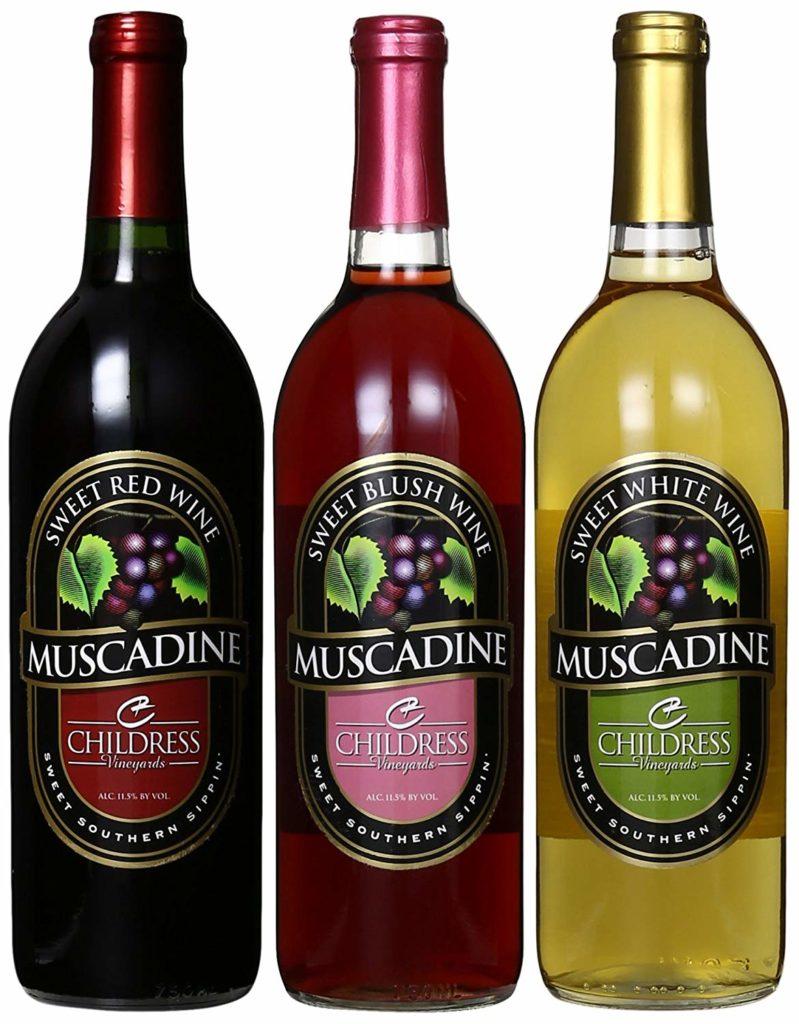 Muscadine wine Childress Vineyards