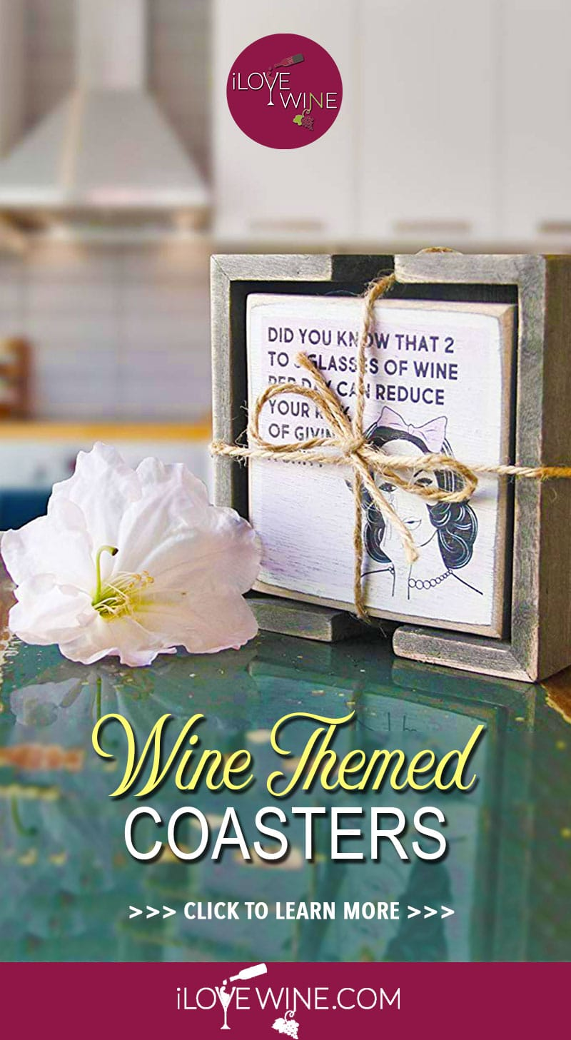 If you're looking for witty coaster designs that accurately sum up your love of wine, but still look great in your home and will last a long time, then click to keep reading! Love wine   Wine Themed Coaster Designs   Wine Themed Coasters   Wine Coasters   #lovewine #wine #winecoasters