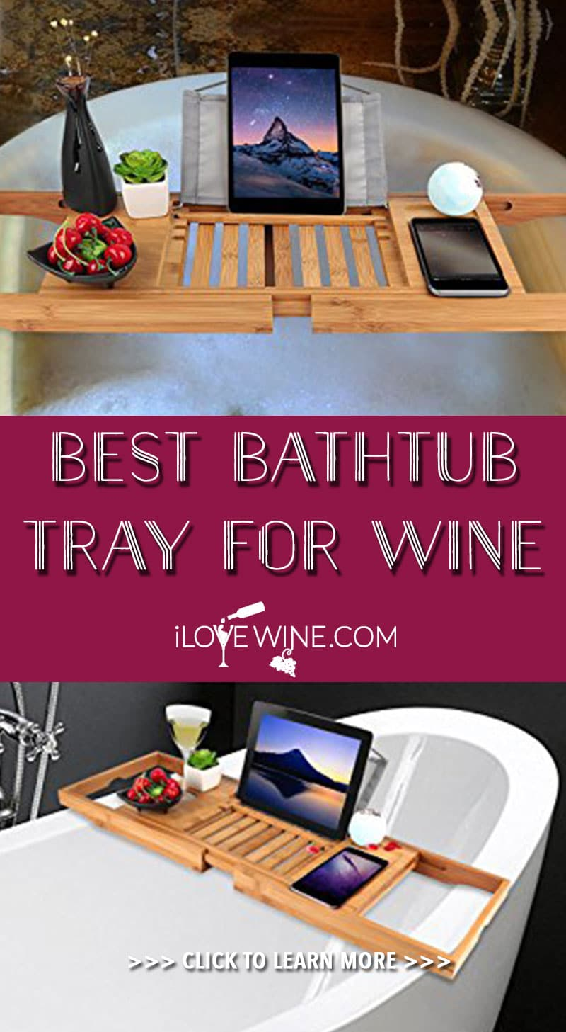 Purchasing a bathtub tray is a great way to enjoy your wine while soaking in the bath, and with some excellent quality trays available and well-designed features, this is one investment that will bring you bliss for years to come. Click to learn more! Love wine | Bathtub Tray For Wine | Bath Tray #lovewine #wine #bathtubtray