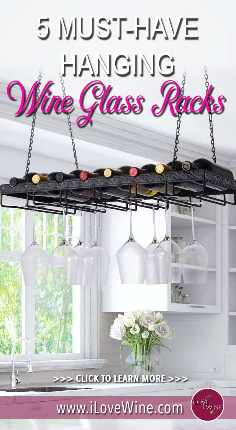 5 Hanging Wine Glass Racks That Will Look Good In Any Kitchen. Wine Racks. Wine Glass Racks. Click to learn more! Love wine #lovewine #wine #wineracks #wineglassracks