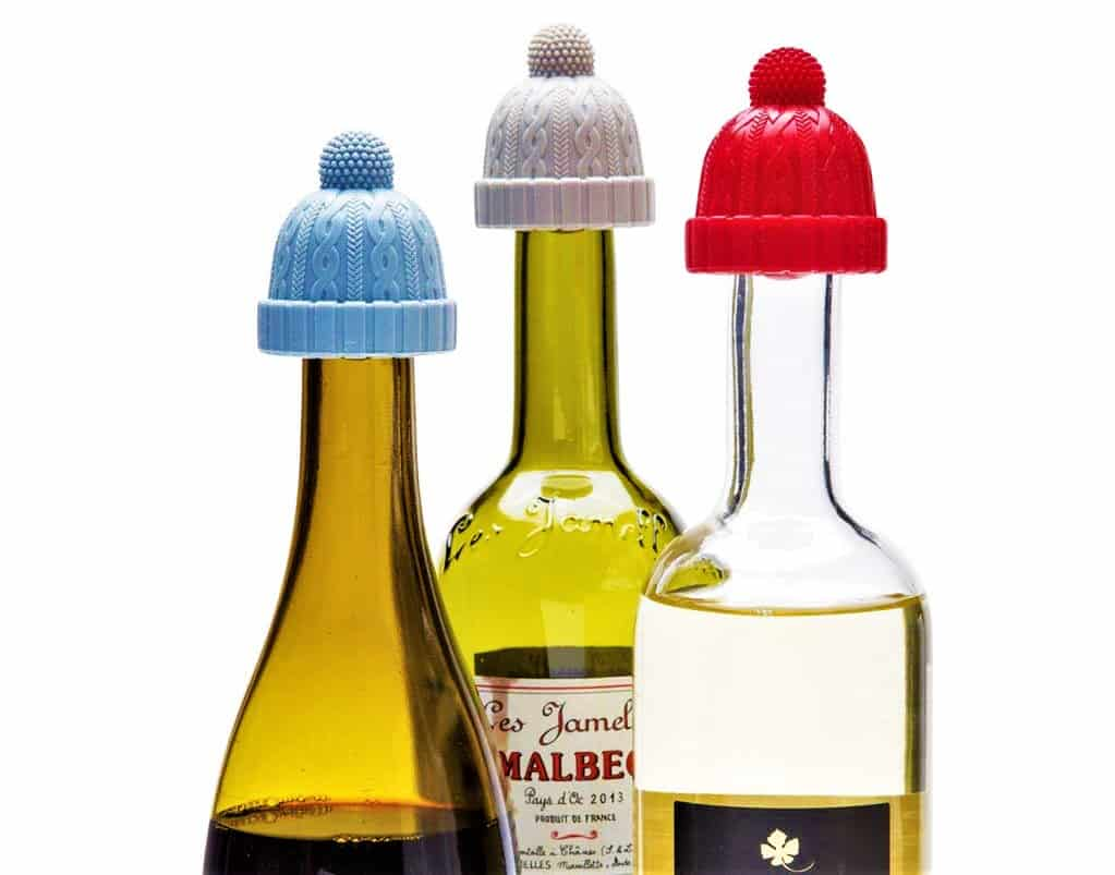 beanie cap bottle stopper