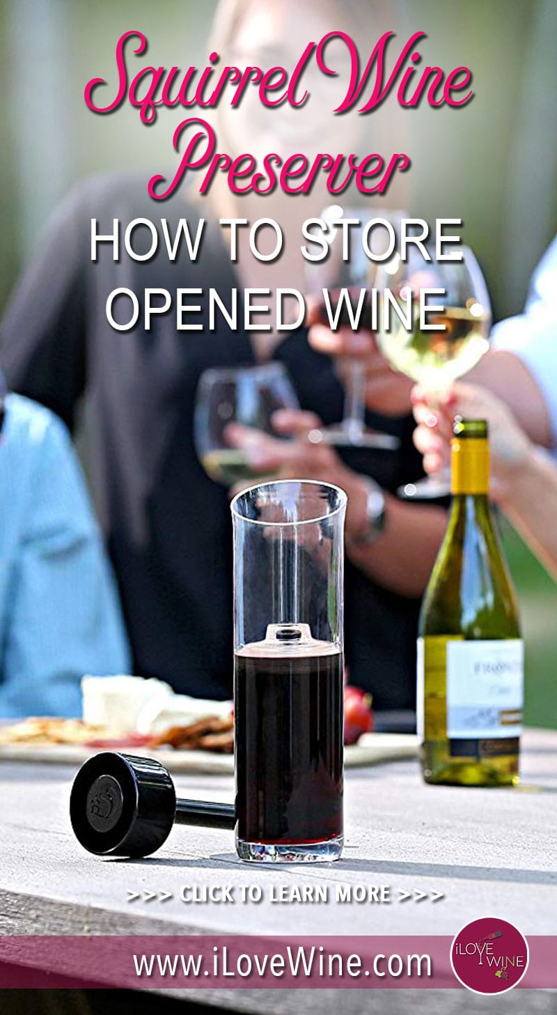 With the Squirrel you will be able to store your wine for days, weeks, and maybe even months. Click to learn more about The Squirrel Wine Preserver! Love wine   I Squirrel Wine Preserver   #lovewine #SquirrelWinePreserver