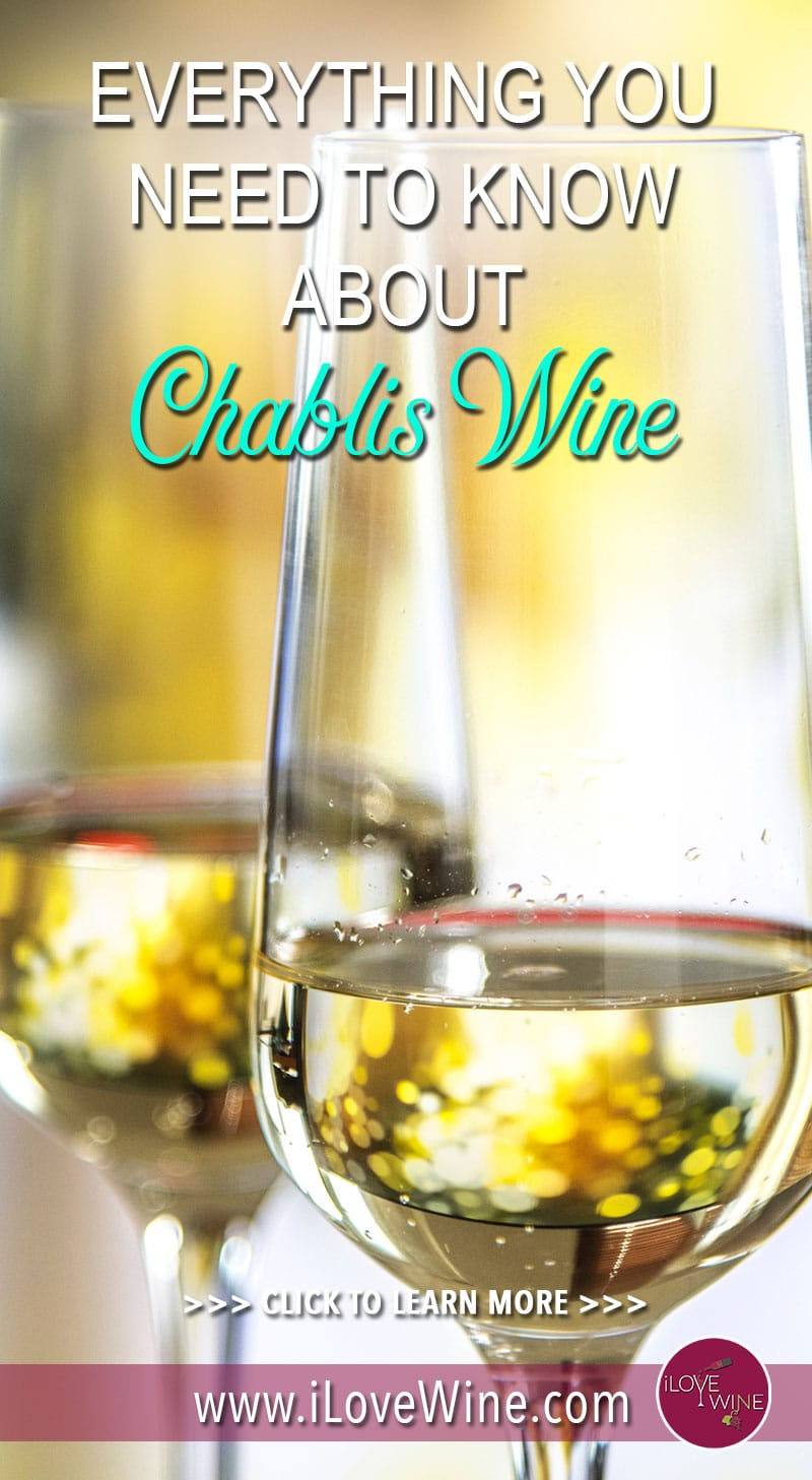 Chablis wine's dry, mineral taste is popular with wine lovers around the world. The Chablis region producing this crisp, acidic wine is located in north Burgundy, and the cool, semi-Mediterranean climate helps to produce this crisp wine. Click to learn more about Chablis wine! Love wine | Chablis Wine | Chardonnay grapes. #lovewine #Chabliswine #Chardonnaygrapes