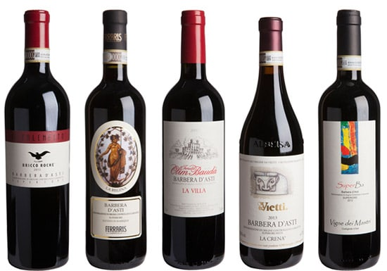 Barbera wine Piedmont Italy
