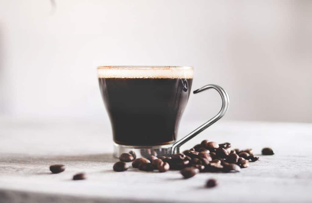 strong dark coffee