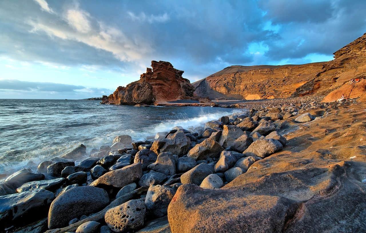 Canary Islands, El Golfo Beach, Spanish wine regions