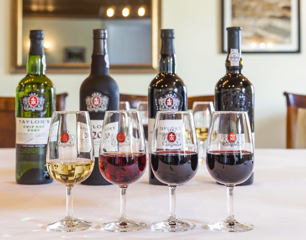 glasses of each type of port wine