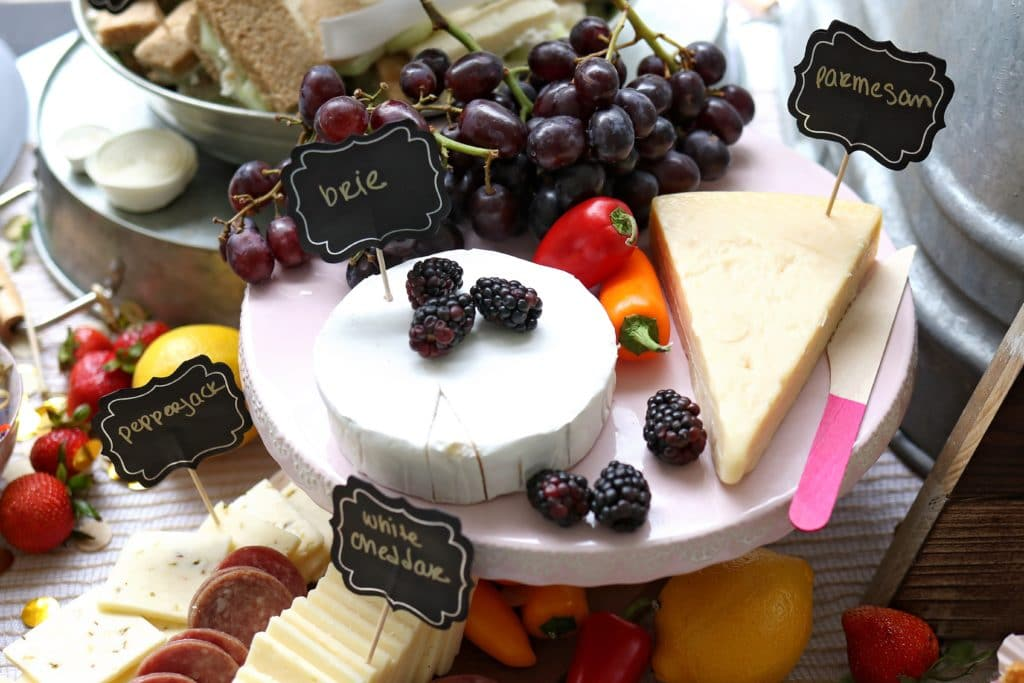 pretty plate of cheese and berries