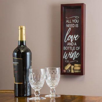 best wine cork display box