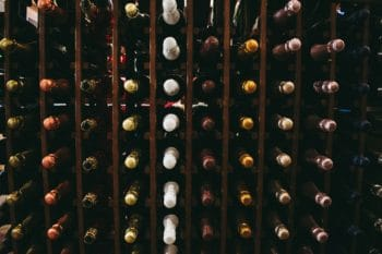A collection of wine bottles.