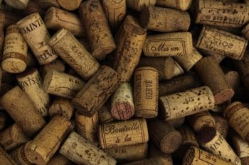 A collection of bottle corks.