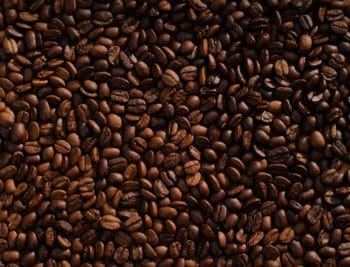 A bunch of coffee beans.