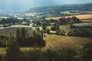 A green field in France.