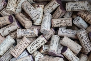 A bunch of wine corks.